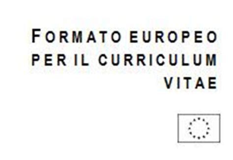 Curriculum Vitae Modello Europeo Da Compilare Word Gratis